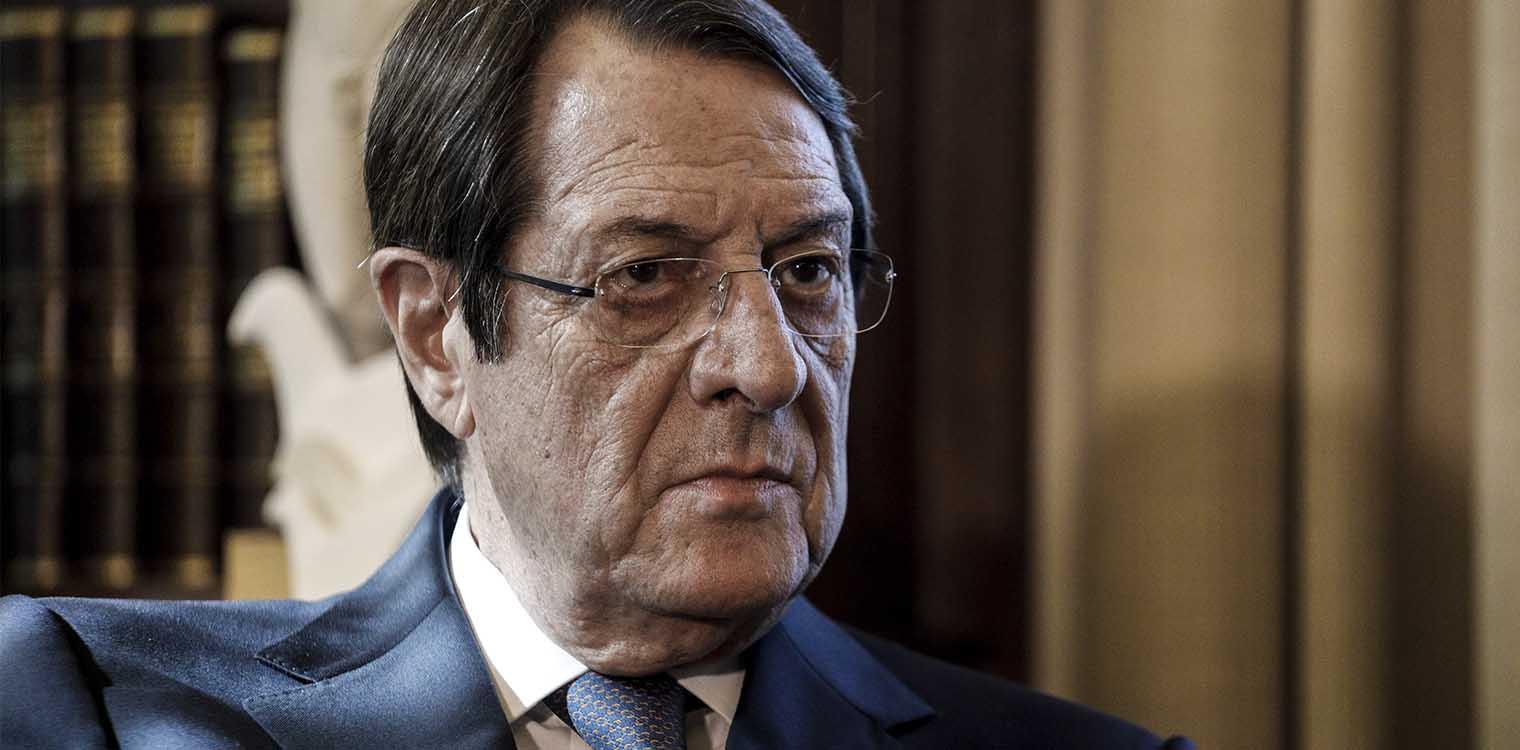 """Σάλος με τον Αρχιεπίσκοπο Κύπρου.  """"Ο Αναστασιάδης δεν βλέπει αρνητικά τη λύση των δύο κρατών"""""""