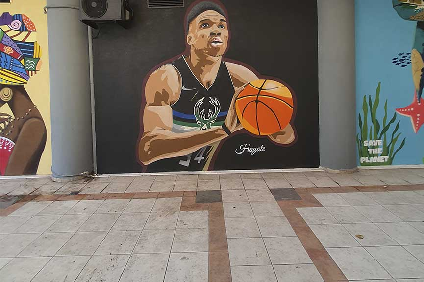 Θεσσαλονίκη: Mural με τη μορφή του Αντετοκούνμπο από τον street artist « Hayate» - Ηλεία Live! Όλες οι ειδήσεις και τα νέα της Ηλείας και της Ελλάδας