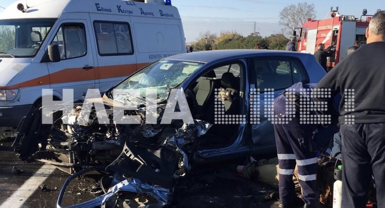 Λεχαινά: Ένας νεκρός και μια τραυματίας σε μετωπική στην Πατρών - Πύργου (upd)