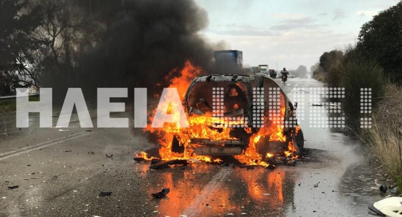 Γαστούνη: Σοβαρό τροχαίο στην Πατρών Πύργου - Έξι τραυματίες, ανάμεσά τους τρία παιδιά (photos & video)
