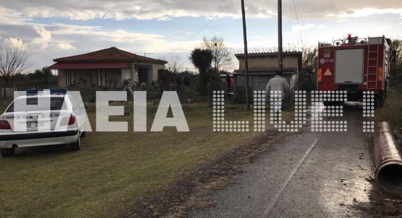 Φρίκη στο Επιτάλιο - Αυτοπυρπολήθηκε ηλικιωμένη στην αυλή του σπιτιού της