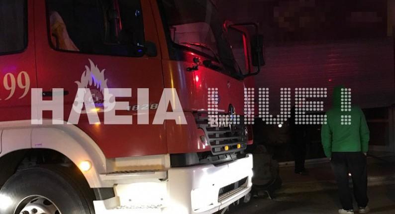 Λεχαινά: Πυρκαγιά σε κατάστημα στο κέντρο της πόλης