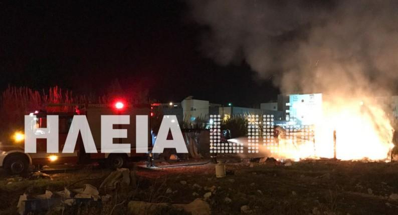 Πύργος: Για λόγους ερωτικής αντιζηλείας έκαψαν οι ΡΟΜΑ τα παραπήγματα