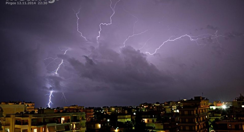 Σημαντική μεταβολή του καιρού με κατά τόπους ισχυρές βροχές και καταιγίδες οι οποίες θα συνοδεύονται από χαλάζι και ισχυρούς ανέμους