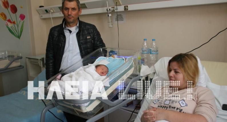 Ποδαρικό με κοριτσάκι το 2017 - Το πρώτο μωρό του χρόνου στην Ηλεία