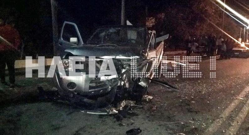 Λεχαινά: Ένας νεκρός και ένας σοβαρά τραυματίας σε τροχαίο στο δρόμο προς Μυρσίνη (photos)