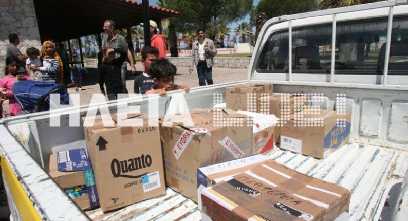Ζακυνθινή βοήθεια στους πρόσφυγες της Μυρσίνης